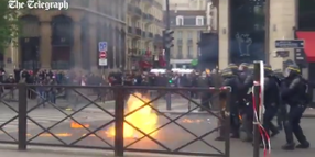 French Police Officers Injured in May Day Workers' March in Paris
