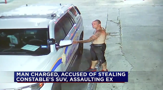 Shirtless Man Drives Away in TX Officer's SUV