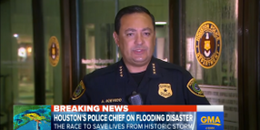 Houston Police Focus on Saving Lives, Battling Looters Amid Rising Flood Waters