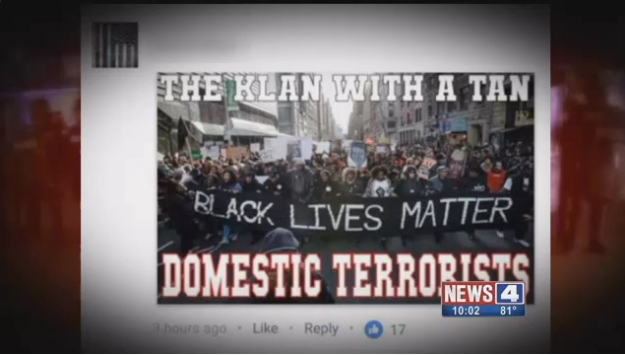 St. Louis Officer Accused of Posting Meme Calling BLM 'Domestic Terrorists'