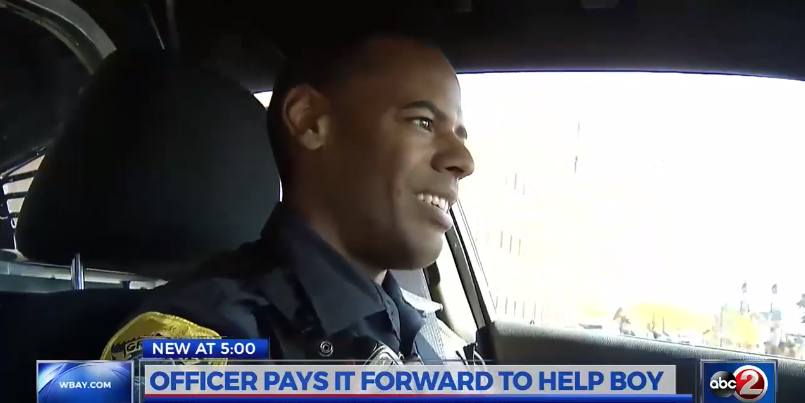 WI Officer Cheers Up Boy Alone on His Birthday