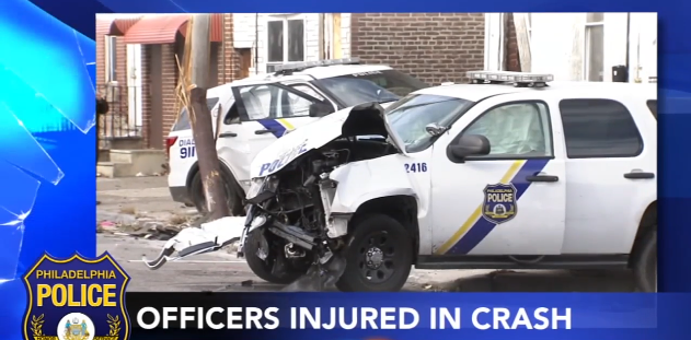 4 Philly Officers Injured in Vehicle Pursuit Crash