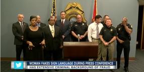 Phony Interpreter Uses Fake Sign Language at FL Police Press Conference