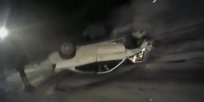 Milwaukee Officers Rescue Teens from Burning Car