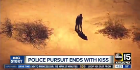 AZ Pursuit Ends With Suspects' Kiss