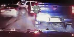Dashcam Shows MN Deputy Nearly Hit by Car