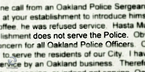California Cafe Won't Serve Police Officers
