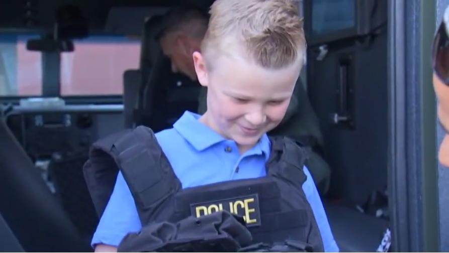 Nevada Boy Raises Money for Fallen Officers, Gets Station Tour