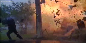 Texas Officer Nearly Caught in Fiery House Explosion