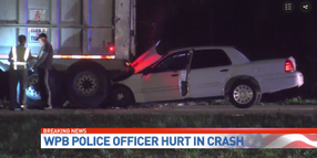 Florida Officer Seriously Injured Crashing into Semi Truck