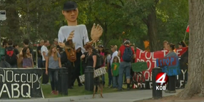 Demonstrators Protest NRA Police Shooting Championship in Albuquerque