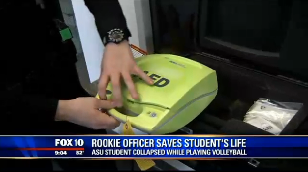 Arizona Campus Officer Saves Student's Life