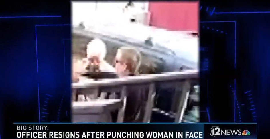 AZ Officer Resigns Over Punching Woman During Eviction