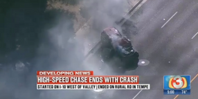 Suspect Leads AZ Troopers on High-Speed Chase that Ends in Head-On Crash