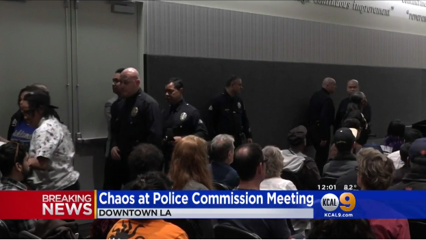 Ashes Thrown on LAPD Chief at Meeting