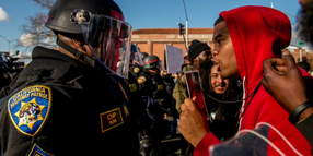 """Black CHP Sergeant Berated as """"Uncle Tom"""" During Sacramento Protest"""
