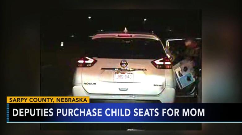 Nebraska Deputies Buy 2 Child Safety Seats for Mom they Stopped for Speeding