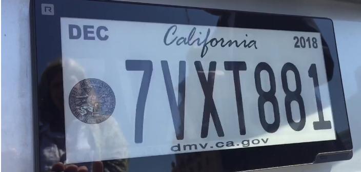 California Testing Digital License Plates