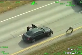 Helicopter Video Captures Gunfight Between Texas Trooper and Suspect