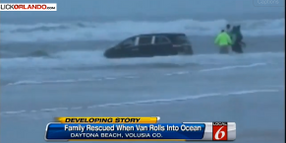 Beach Officers, Bystanders Rescue Kids After Mom Drives into Daytona Surf