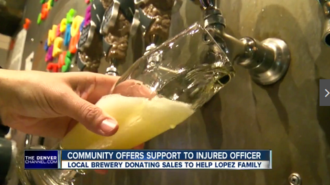 Denver Brewery Donates Proceeds to Wounded Officer's Family