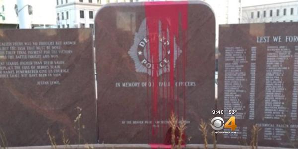 Denver Fallen Officer Memorial Vadalized Over Holiday Weekend