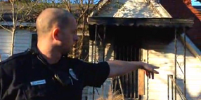 Ala. Officer Rescues 2 from Burning House