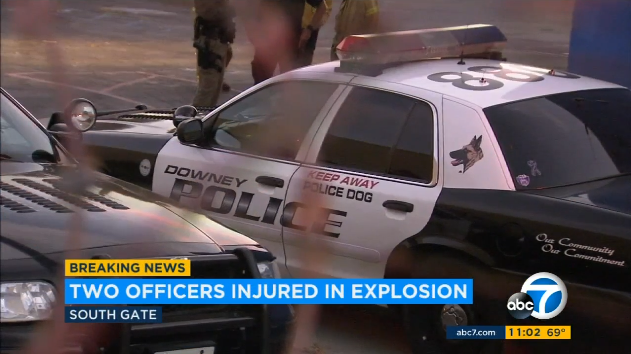 CA K-9 Officers Severely Burned in Industrial Explosion