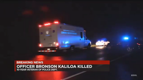 OfficerBronson K. Kaliloa of the Hawaii County Police Department was killed Tuesday night at a...