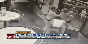 FL Restaurant Manager Helps Deputies Subdue Violent Customer