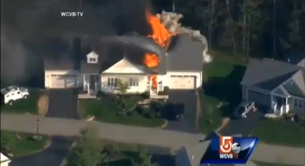 New Hampshire Officer Killed, House Burns and Explodes at Domestic Disturbance
