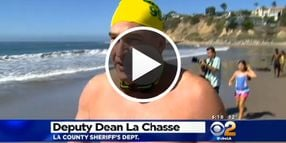 8 Los Angeles Officers Swim All Night For Charity