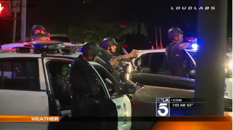 LAPD Kills Man After Running Gun Battle, Vehicle Pursuit