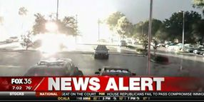 Lightning Strike Narrowly Misses Florida Officer