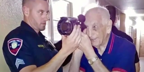 Florida Officers Grant Korean War Vet's Wish to Use Night Vision System Before He Goes Blind