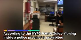 NYPD Sergeant Browbeaten Inside Precinct Station House
