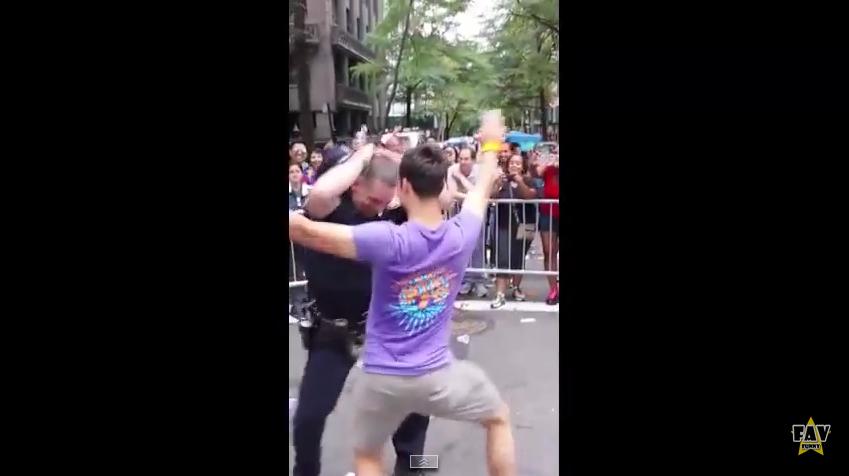 Footage of NYPD Officer Dancing at Gay Pride Parade Goes Viral