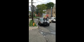 Newark Officers Suspended for Failing to Stop Man Stomping Patrol Car