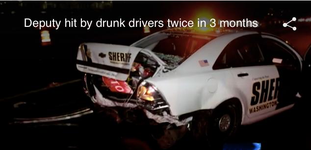 Oregon Deputy Hit Twice in 3 Months by Drunk Drivers