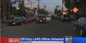 Off-Duty LAPD Officer Attacked with Blunt Object, Suspect Shot