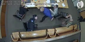 Oregon Man Tries to Grab Officer's Gun in Courtroom Confrontation