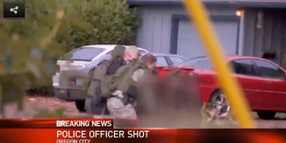 Ore. Officer Shot, Gunman Killed at House Fire Incident
