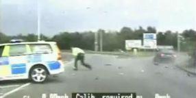 Cop Struck by Stolen Car, Arrests Man