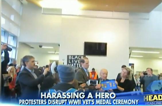 Anti-Police Protesters Crash World War II Vet's Medal Ceremony