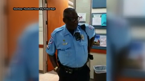 "Senior Patrol Officer Ronald ""Pookie"" Hall of the Texas City (TX) Police Department — who never..."