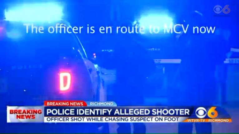 Richmond Officer Shot in Foot Pursuit, Suspect in Custody