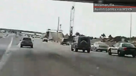 Police say the road rage incident was the result of a domestic dispute between a Miramar police...