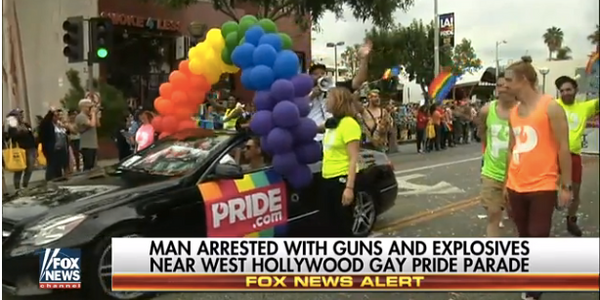 Man Arrested Sunday in California with Weapons May Have Been Targeting Gay Pride Parade