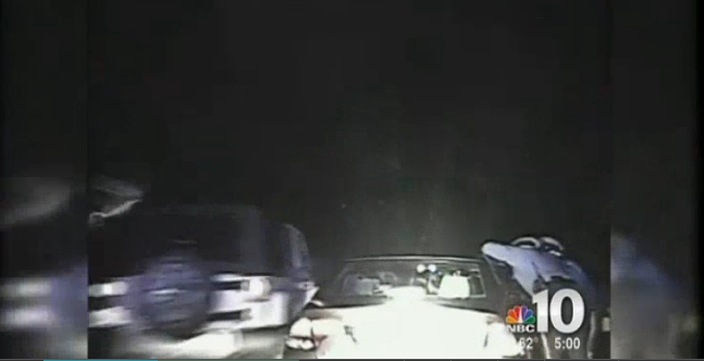 New Jersey Trooper's Cruiser Sideswiped by Jeep at Traffic Stop