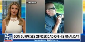 Retiring Massachusetts Officer Surprised by Son on Final Radio Call